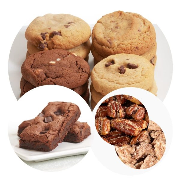 Chocolate Lovers Cookie and Brownie Combo with Nuts