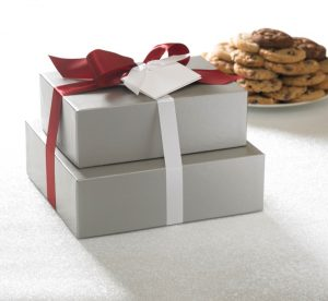 58-70 ct Silver Elegance Cookie Tower Gift