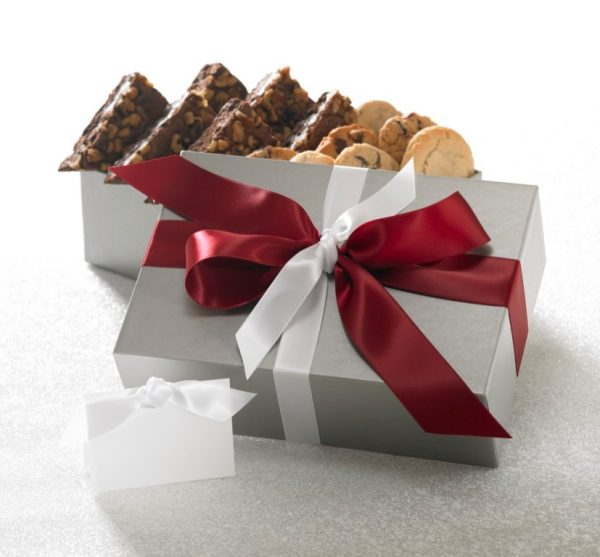 Silver Elegance Cookie and Brownie Gift