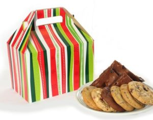Christmas Striped Cookie and Brownie Gift