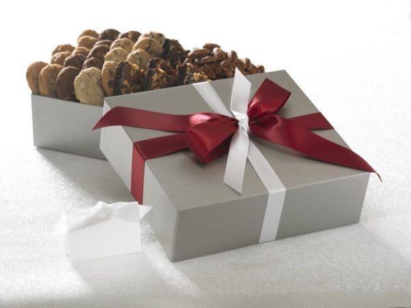 Silver Elegance Cookie, Brownie and Nut Gift