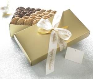 Happy Holidays Gold 42 ct Cookie Gift