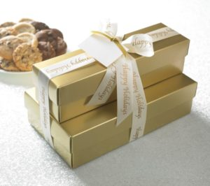 Happy Holidays Gold 66 ct Cookie Gift