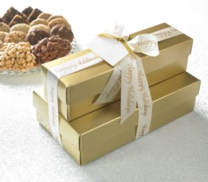 Happy Holidays Gold Wide Array Gift
