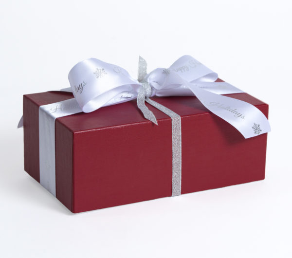 Red Linen Holiday Gift